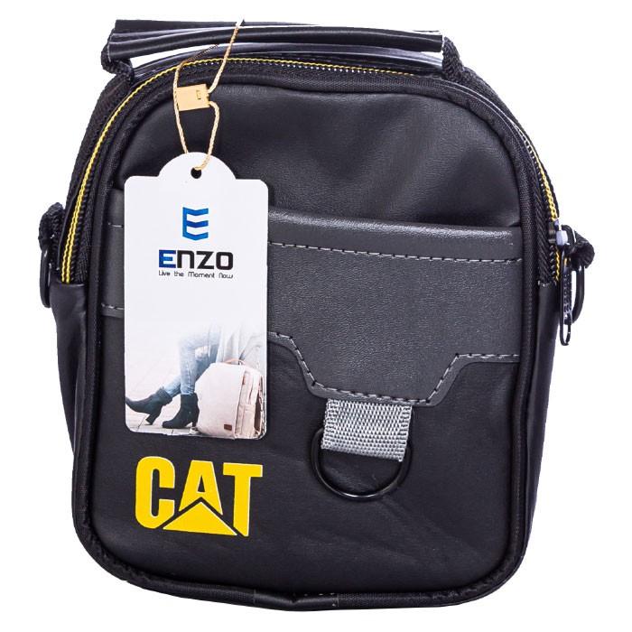 کیف دوشی CAT مدل 1313 سایز 18*15 طرح چرم