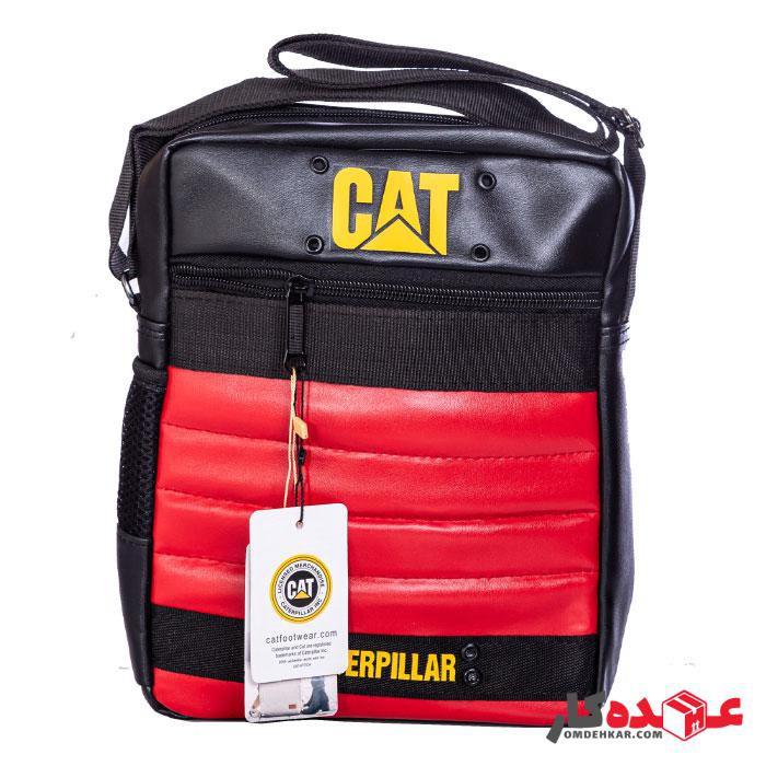 کیف دوشی CAT مدل 1314 سایز 27*30 طرح چرم