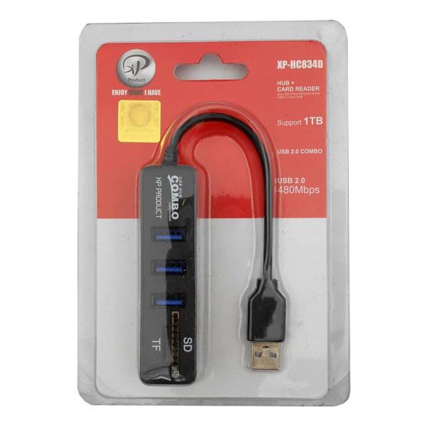 هاب USB ایکس پی پروداکت مدل XP-HC834 کمبو